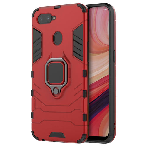 Slim Armour Shockproof Case & Magnetic Ring Holder - Oppo AX7 (Red)
